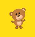 funny and ute teddy bear cartoon character vector image