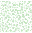 green flower seamless on white background vector image
