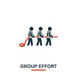 group effort icon premium style design from vector image