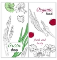 Healthy organic food Green shop vertical banner vector image vector image