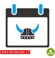 Horned Helmet Calendar Day Eps Icon vector image vector image
