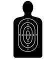 human shape target vector image vector image