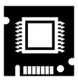 integrated microchip icon simple black style vector image