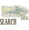local search makes your business a big fish in vector image vector image