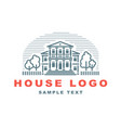 logo emblem with house vector image vector image