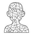 male head silhouette vector image