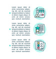 medical schools and licensing exams concept line vector image vector image