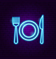 menu food neon sign vector image vector image