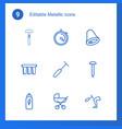 metallic icons vector image vector image