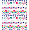 mexican hat sombrero and mustache seamless pattern vector image