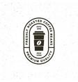 modern vintage coffee shop label vector image vector image