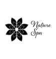 nature spa leaf logo design template black color vector image