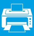 printer icon white vector image vector image