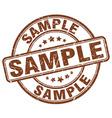 sample brown grunge round vintage rubber stamp vector image vector image