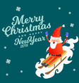 santa claus in red hat and jacket with beard vector image vector image