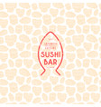 seamless pattern and emblem for sushi bar vector image vector image