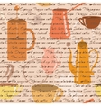 Seamless pattern with coffee types text vector image vector image