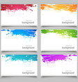 set colored cards vector image vector image