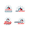 set delivery related color icons logos with vector image vector image