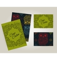 Set of brochures in doodle ornamental style with