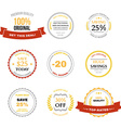 set sale labels badges and design elements vector image