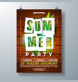 summerparty flyer design with tropical palm vector image vector image