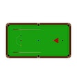 top view of realistic snooker table with balls vector image vector image