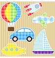 transport stickers vector image vector image