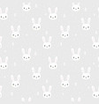tribal seamless pattern with cartoon bunnies vector image