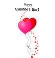 valentines greeting card with couple of red and vector image vector image
