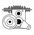 vinyl speaker megaphone music festival vector image vector image