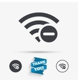 Wifi minus sign Wi-fi symbol Wireless vector image vector image