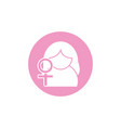 woman female gender sign breast cancer awareness vector image