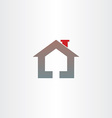 real estate house icon design vector image