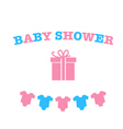decoration for Baby shower vector image