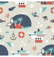 Seamless background with sea objects vector image