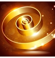 abstract background with a golden swirl vector image