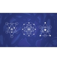 Abstract sacred geometry symbols set vector image vector image