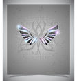 Abstraction grey background with wings vector | Price: 1 Credit (USD $1)