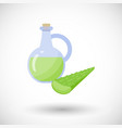 aloe vera gel with plant flat icon vector image vector image