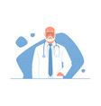 an older physician doctor vector image vector image