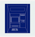 atm bank machine automated teller machine vector image
