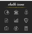Banking and finance chalk icons set vector image