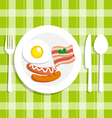 Breakfast food with egg vector image vector image