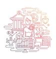 Businesswoman managing money - line design vector image vector image