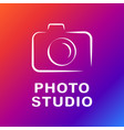 camera icon flat photo isolated vector image vector image
