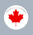 canada flag official colors and proportion vector image
