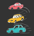 cars icons set transport transportation vector image