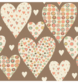 Cartoon hearts seamless pattern vector image