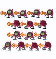 characters robot walk game flat icon man vector image vector image